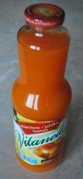 Сок морковно-банановый в бутылке